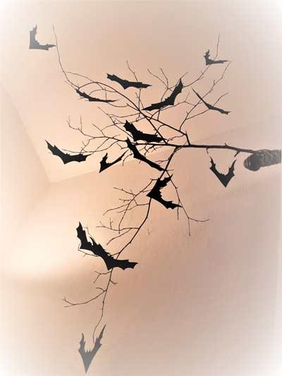 Branche et chauves-souris Tuto DIY Halloween Les Étoiles Filantes