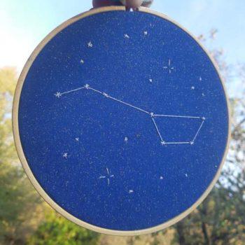 Déco, broderie, constellation, étoiles