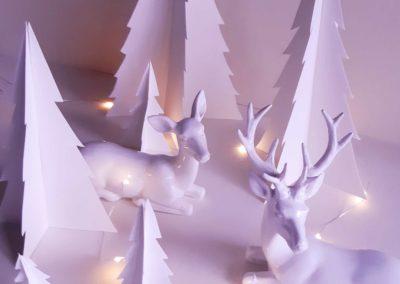 Tuto DIY de Noël - Forêt de sapins en papier par Les Étoiles Filantes.