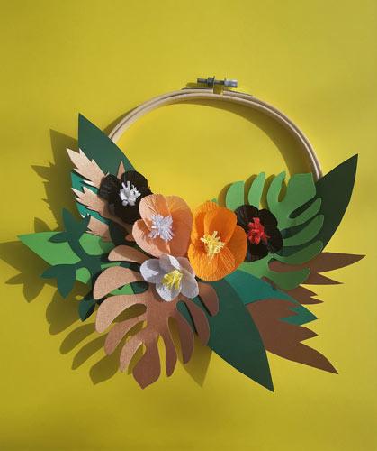 Couronne de fleurs Isadora. Réalisation Les Etoiles Filantes