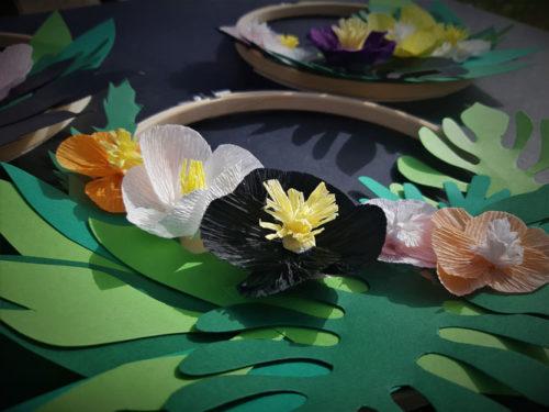 Couronnes de fleurs. Réalisation Les Etoiles Filantes