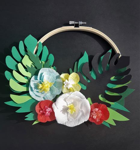 Couronne de fleurs Lily. Réalisation Les Etoiles Filantes